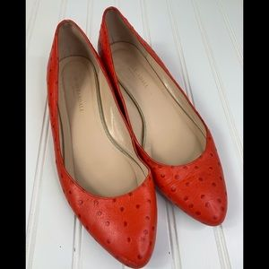 Loeffler Randall Pointed Toe Flats Sc  9 Red Italy